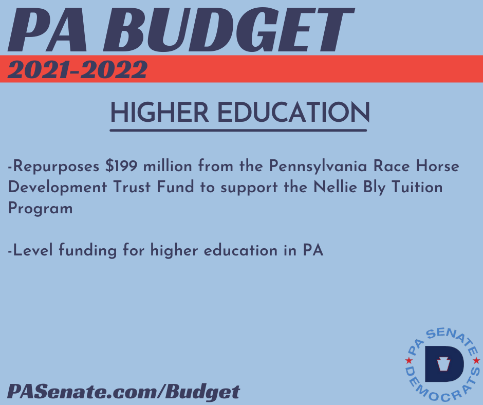PA Budget 2021-2022 - Higher Education