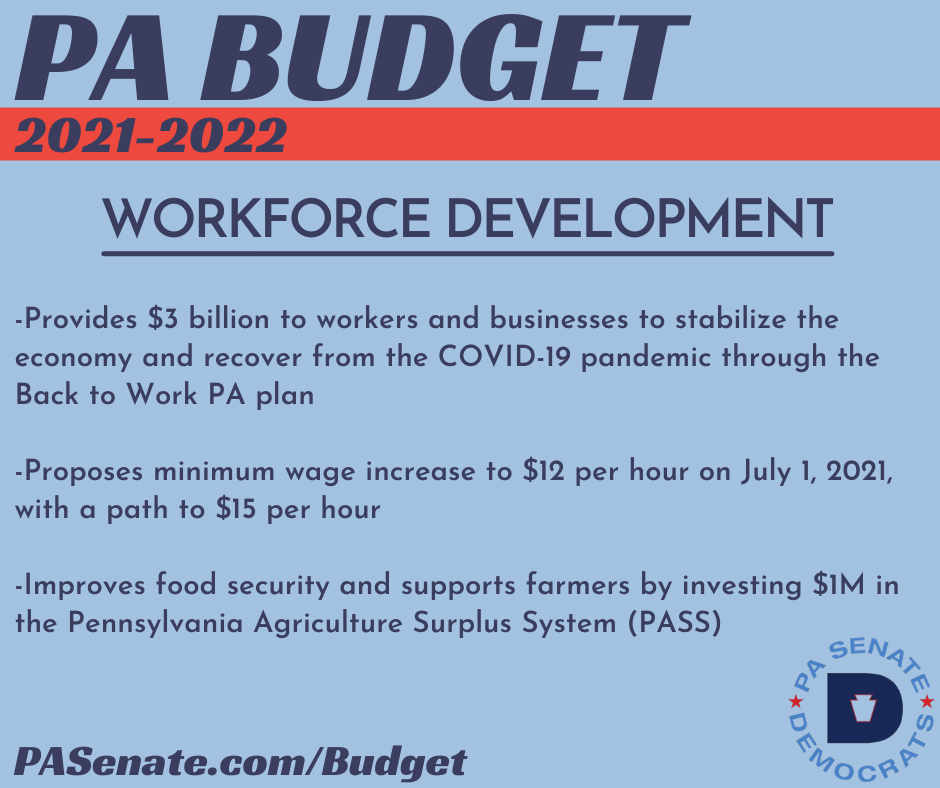 PA Budget 2021-2022 - Workforce Development